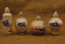 Chinese porcelain snuff bottle lot hand painted from China