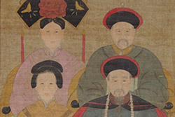 Chinese Dignitaries family on Paper Emperor of Qing dynasty