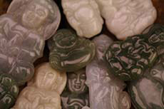 Jade Buddha Pendants with Necklaces