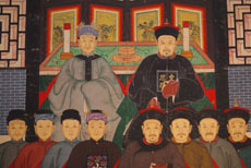 Large Chinese Ancestors painting with a chinese Emperor