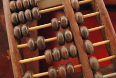 Old Chinese Abacus in Wood