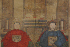 Old Chinese ancestors painting and chinese dignitaries on Chinese Items shop