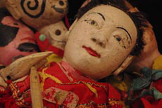 Old Chinese Puppet in Wood from the Chinese Fu Jian Province