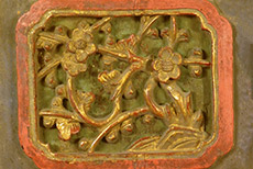 Old Very Large Wooden Panel Qing Dynasty