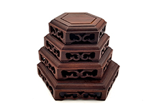Chinese Wood Stands - Hexagonal