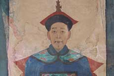 Old reproduction - Portrait of Chinese ancestors - antiques painting